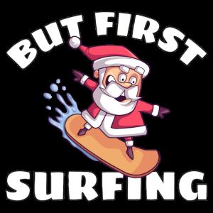 Surfender Weihnachtsmann