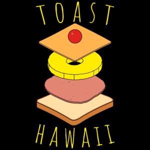 Toast Hawaii gestapelt - Ab in den Ofen - Lecker!