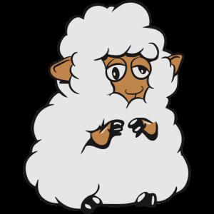 Schaf Weide fressen Herde hingefallen viel Wolle N