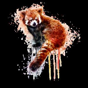Aquarell-roter Panda-Bär - niedliche Tierkunst