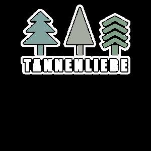 Tannenliebe Wintermotiv Baum Nadelbaum