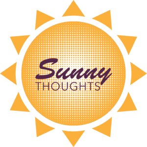 Einfache Grafik Sunny Thoughts Orange Sun