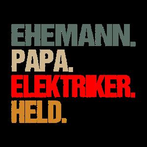 Elektriker Papa T Shirt Geschenk für Vater