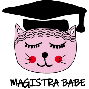 Akademikerin Katze MAGISTRA
