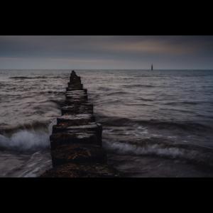Nachts am der Nordsee