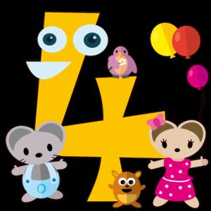 Bubsimaus feiert den vierten Geburtstag