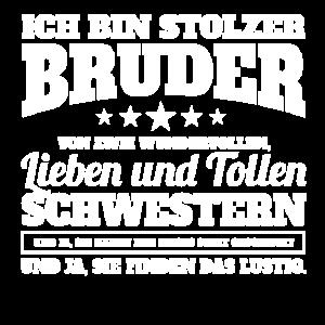 Stolzer Bruder von zwei Schwestern Shirt