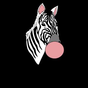 Zebra Bubble Gum Bubble Animal Lover