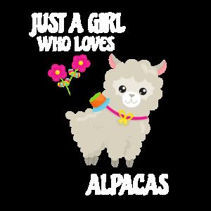 Alpaca Lama Liebe Mädchen Geschenk