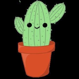 Kaktus mit Gesicht