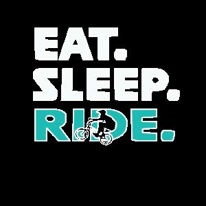 Awesome Eat Sleep Ride Wiederholungsdesign für Radfahrer