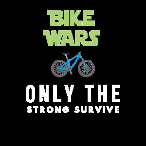 Lustiger Bike Wars Entwurf für Radfahrer