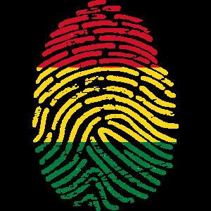 Fingerabdruck von Bolivien