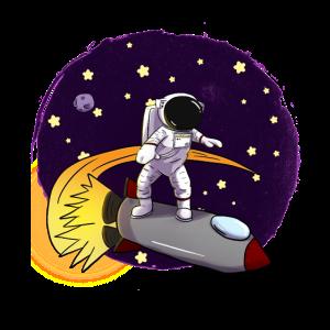 Astronaut Auf Rakete