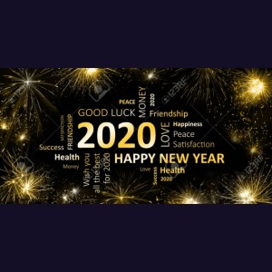 90911595 black golden new year card with happy new