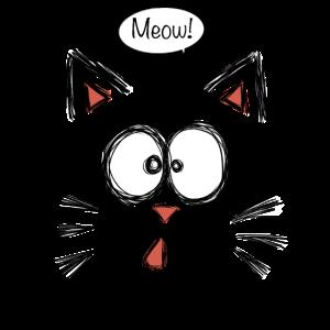 Katze Cat Kitty Miau Süß Spruch