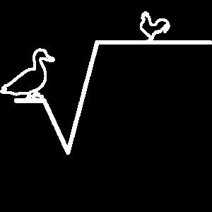 Ente Wurzel aus Huhn Mathelehrer Geschenk