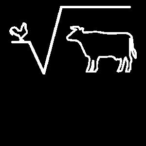 Huhn Wurzel aus Kuh lustiges Mathelehrer Geschenk