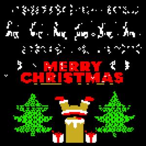 Merry christmas santa claus retro pixel gaming 8bi
