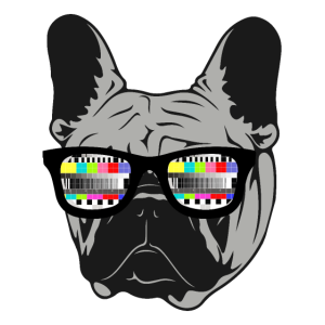 Retro French Bulldog 80s 90s Testbild