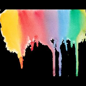 Regenbogen-Klecks