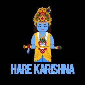 Hare Karishna süße blaue Hindu-Gott Bambusflöte