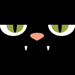 Katzen Augen auf Tshirt Comic