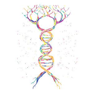 DNA Tree of Life Genetics Colorful Biology Science