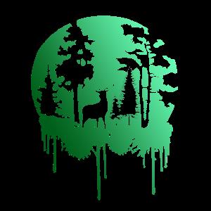 Natur Hirsch im Wald
