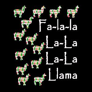 Lustiges Falalalamma-Geschenk für Liebhaber von Lamas und