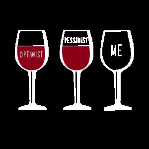 """""""Optimist Pessimist Me"""" 3 Gläser"""