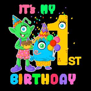 It's my 1st birthday Baby Babys Geburtstag Schatz
