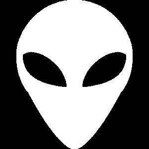 Alien Grey Kopf Weiß