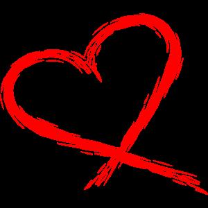 Herz Design Vektor rot