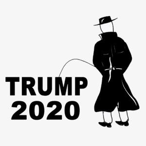 Pissing Man against Trump 2020