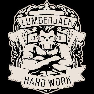 Lumberjack Hard Work Crossed Axes