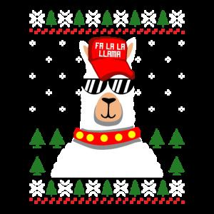 Cooles Lama Weihnachten Ugly Christmas Geschenk