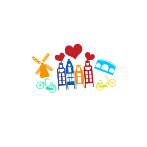 Amsterdam Windmühle Fahrrad Altstadt