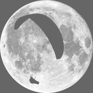 Paragleiter im Mond
