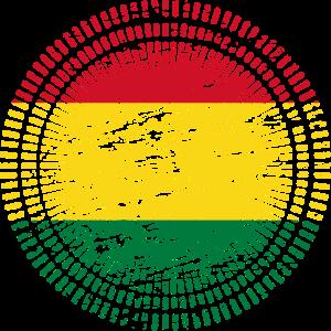 Bolivien mit Flagge