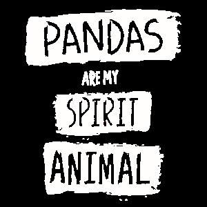 Pandas sind mein Geist Tier Geschenk Panda Bear