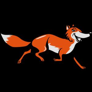 Fuchs laufen witzig