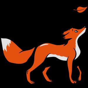 Fuchs süss jung blatt