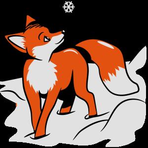 Fuchs süss schnee schneeflocke