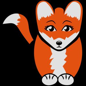 Fuchs süss traurig