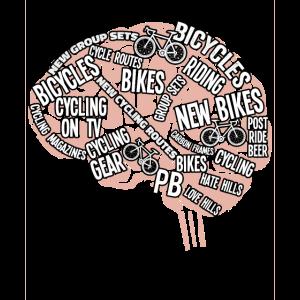 Ein Radfahrer-Gehirn