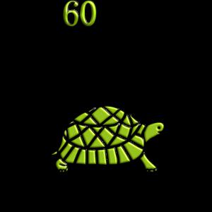 Lustiger 60. Geburtstag Schildkröte Langsam Spruch