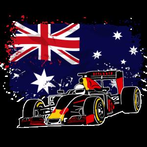 Racecar - Australia Flag