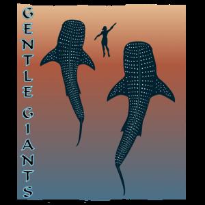 Gentle Giants Walhai Sonnenuntergang Indonesien
