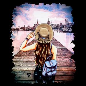 Rostocker Skyline Ahoi | Yolo-Artwork